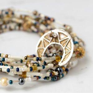 Jewelry - OOAK Beach Life Layered Wrapped Bracelet